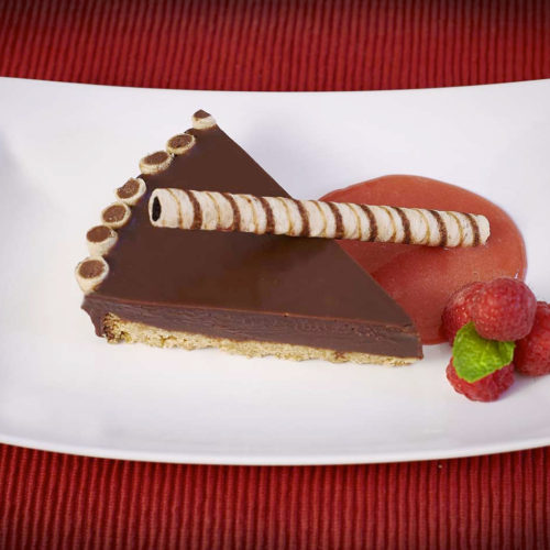 Pirouline Chocolate Ganache Tart with Piroucrisp Cookie Crust
