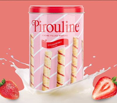 Strawberry Creme Filled Wafer Cookies
