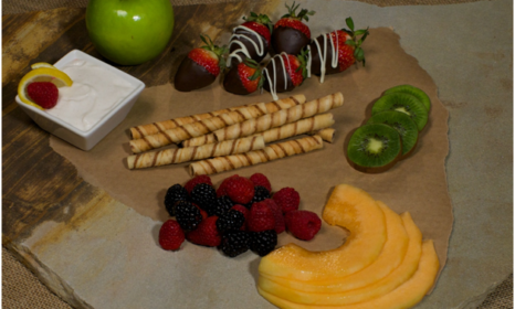 Cookie and Fruit Tray with Greek Yogurt dip