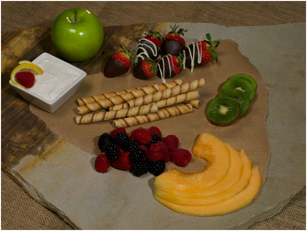 Cookie and Fruit Tray with Greek Yogurt dip