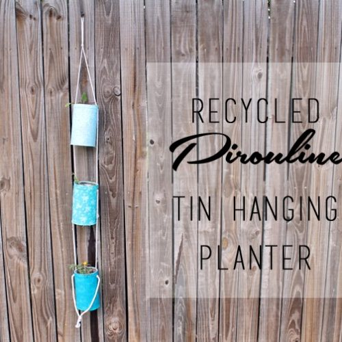 Ombre Hanging Planter from Pirouline Tins