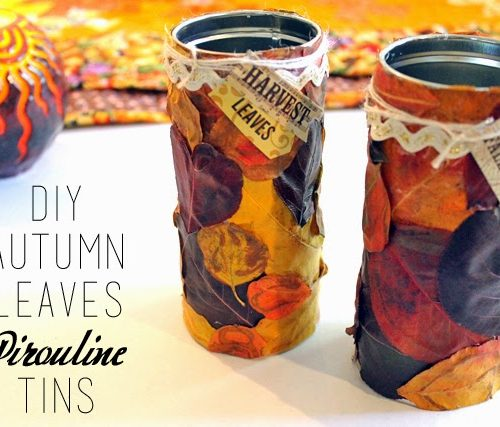 Autumn Leaves Pirouline Tins