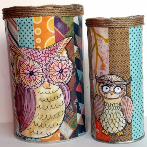 Restyled Pirouline Owl Tins DIY