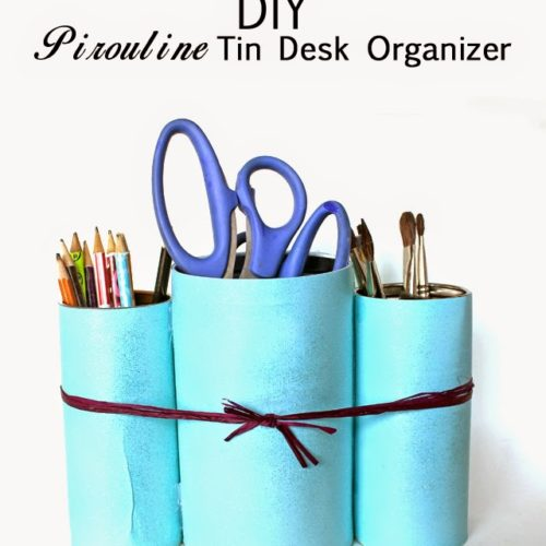 Desk Organizer from Pirouline Tins