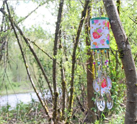 Pirouline Recycled Wind Chime Tin Can