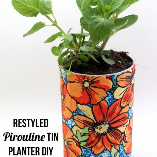 Pirouline Restyled Tin Planter DIY