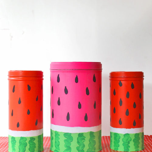 Pirouline DIY Watermelon Tins