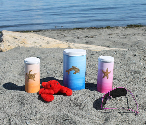 Pirouline DIY Ombre Beach Tins for Summer