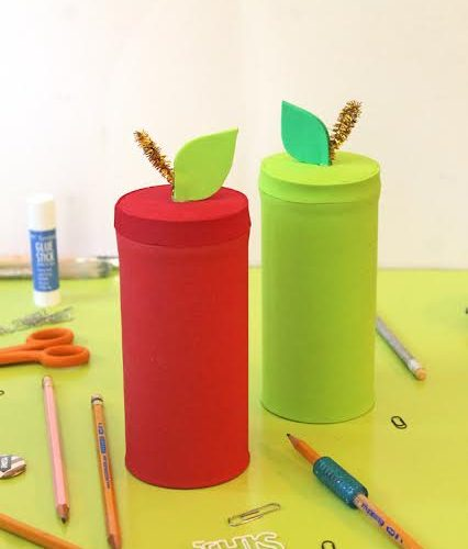 DIY Apple Tins for Back-To-School