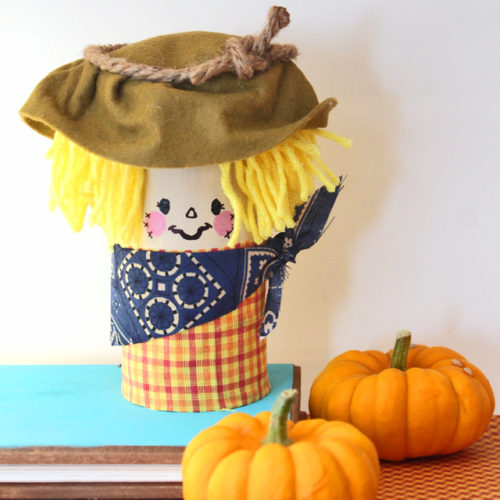 DIY Scarecrow from Recycled Tin