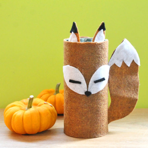 DIY Felt Fox Recycled Tin Can