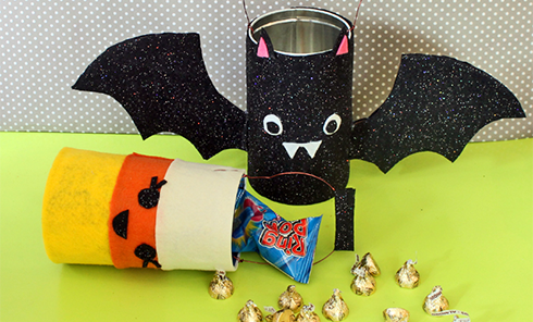 DIY Trick or Treat Tins from Recycled Cookie Tins
