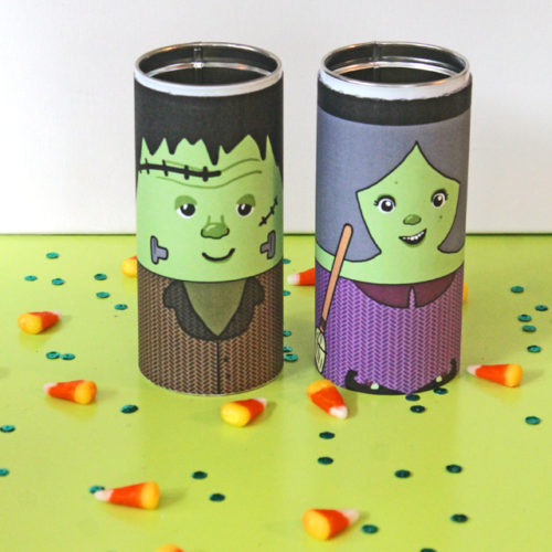 DIY Halloween Character Tins + Free Printable