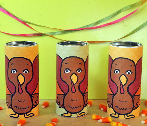 DIY Turkey Tins + Free Printable