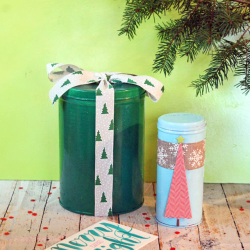 DIY Recycled Tin Gift Wrap