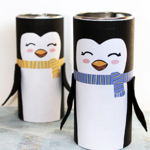 DIY Penguins from Upcycled Pirouline Tins