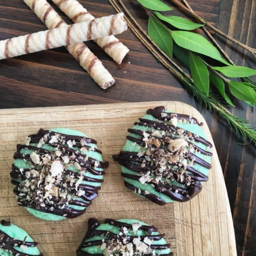 Pirouline Mint Ganache Cookies