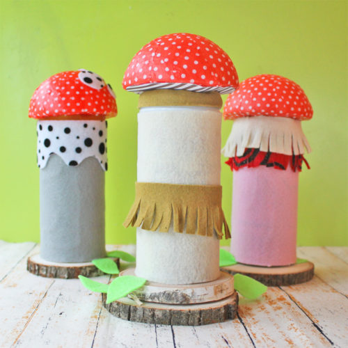 Mushroom Tins from Recycled Pirouline Cookie Tins