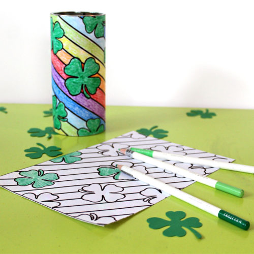 St. Patrick's Day Coloring Page Pirouline Tin