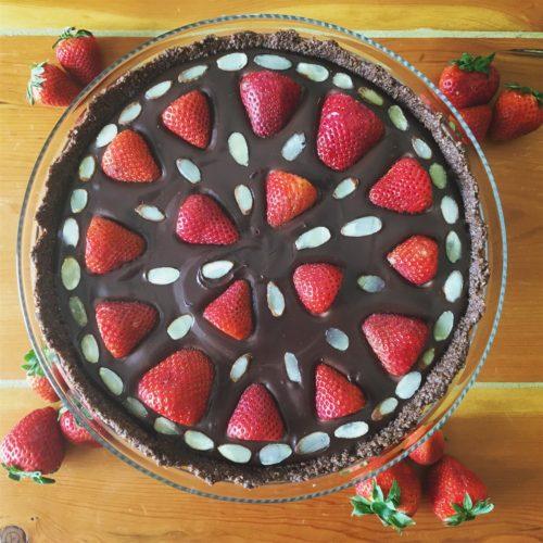 Pirouline Strawberry Ganache Tart