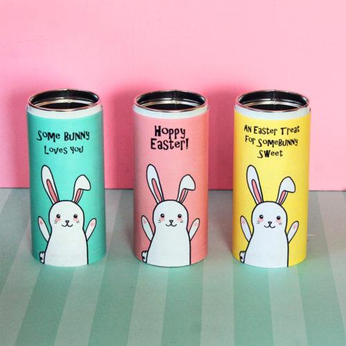 DIY Easter Treat Tins with Printable Tin Wrap!