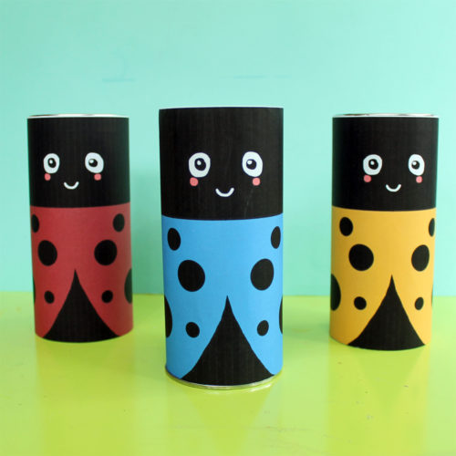 DIY Lady Bug Recycled Pirouline Tin