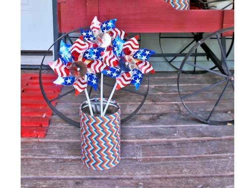 Patriotic Pinwheel Stand DIY