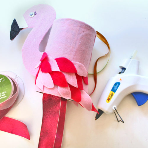 DIY Flamingo Windsock