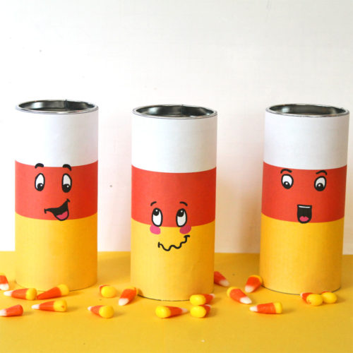DIY Candy Corn Tins