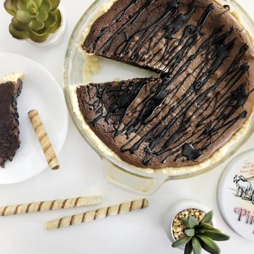 Brownie Pie (the perfect pairing with classic Pirouline cookies)